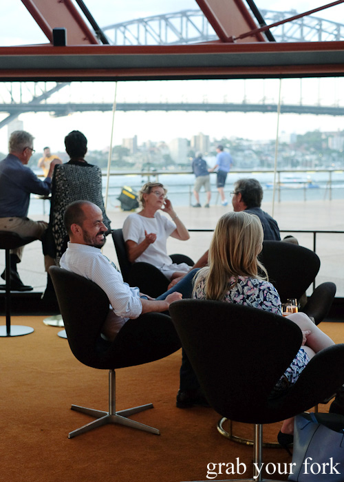View of the Sydney Harbour Bridge from the bar at Bennelong Restaurant, Sydney food blog restaurant review