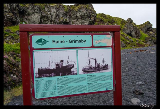 Cartel del barco pesquero Epine