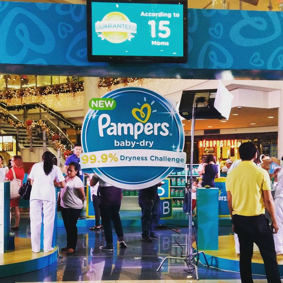New pampers Baby Dry 99.9% Dryness Challenge