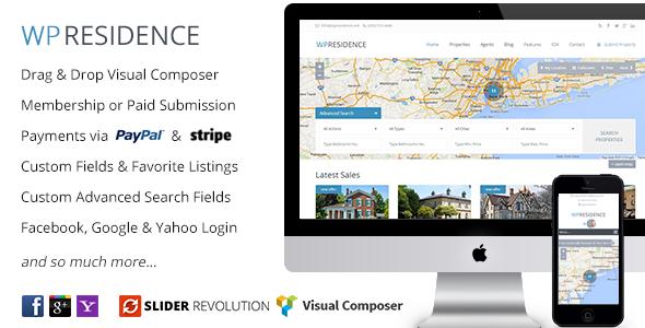 WP Residence v1.15 - Real Estate WordPress Theme