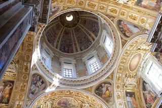 Dome inside Basilica Papale di Santa Maria di Maggiore