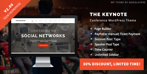 The Keynote v2.00 - Conference / Event / Meeting WordPress Theme