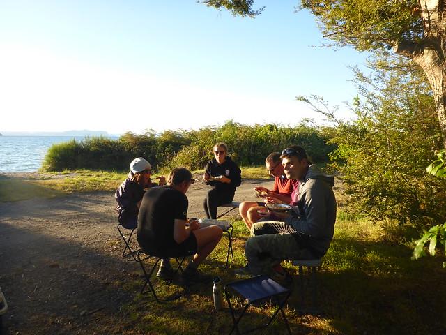 Dinner and sunset, Lake, Panasonic DMC-FT5