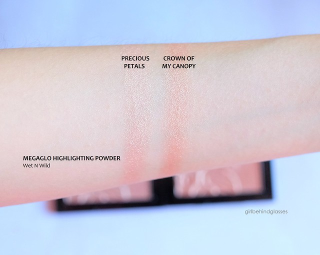 Wet N Wild Megaglo Highlighting Powder swatches