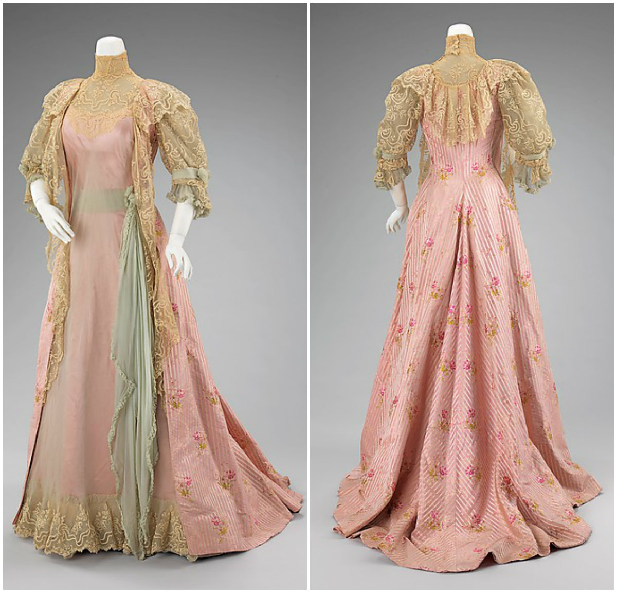 1901. Tea Gown. Silk. metmuseum