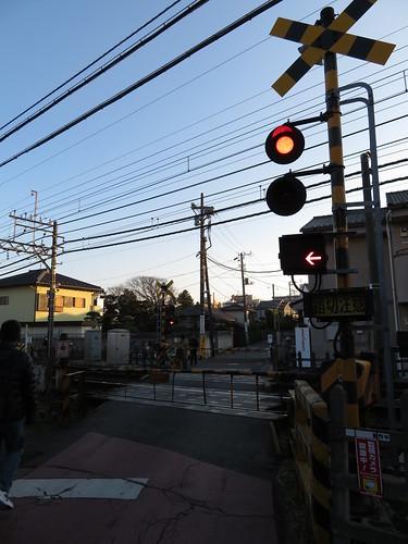 中山競馬場のオケラ街道京成線踏切