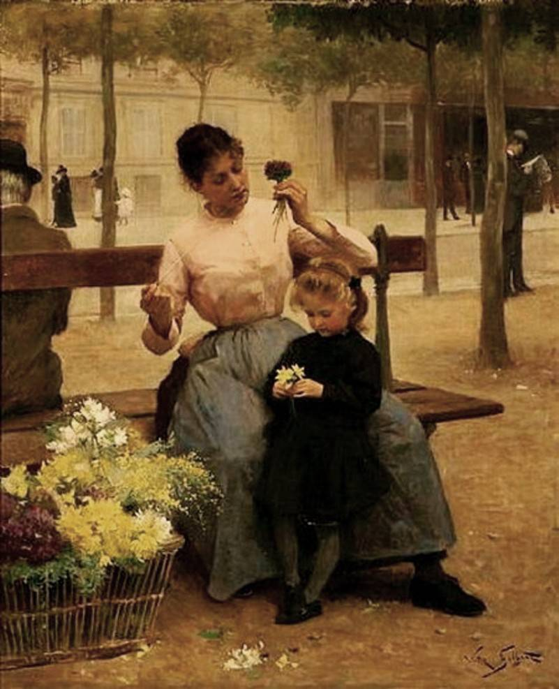 Flower Seller with Child by Victor Gabriel Gilbert
