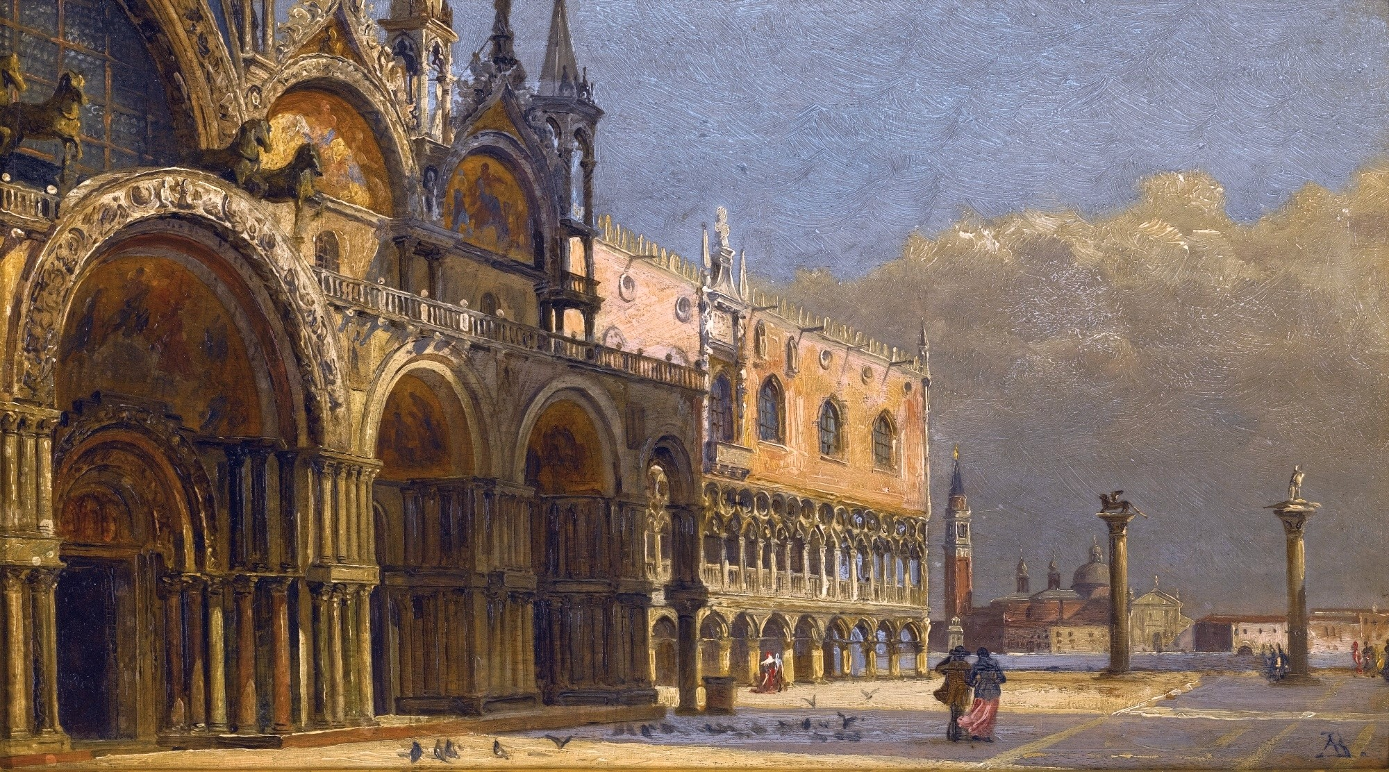 A Windy Day, St. Mark's Square, by Antonietta Brandeis