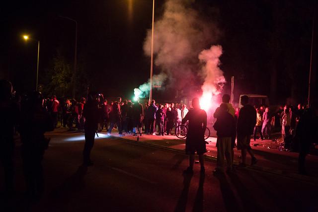 Rassistischer Aufmarsch und Ausschreitungen am 21.08.2015 in Heidenau