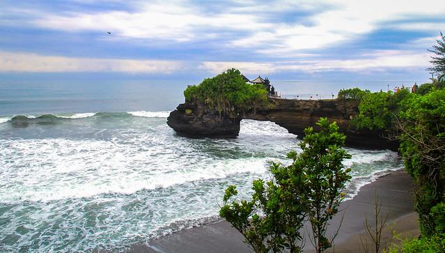 Tanah Lot on a rainy morning - Bali, Indonasia