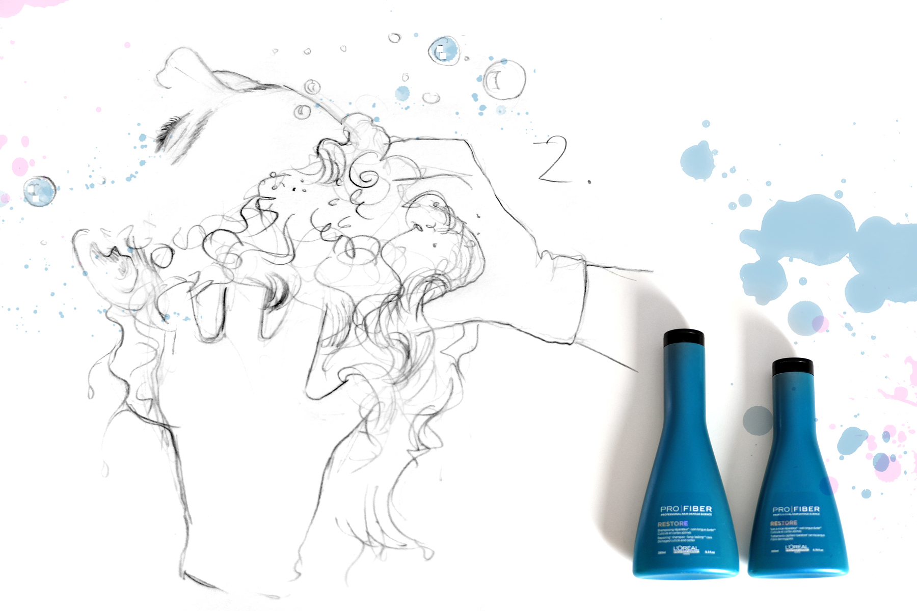 pro fiber l'oréal professionel hair treatment neue pflegerevolution beauty beautyblogger düsseldorf ricarda schernus blog illustration drawing art cats & dogs berlin 4