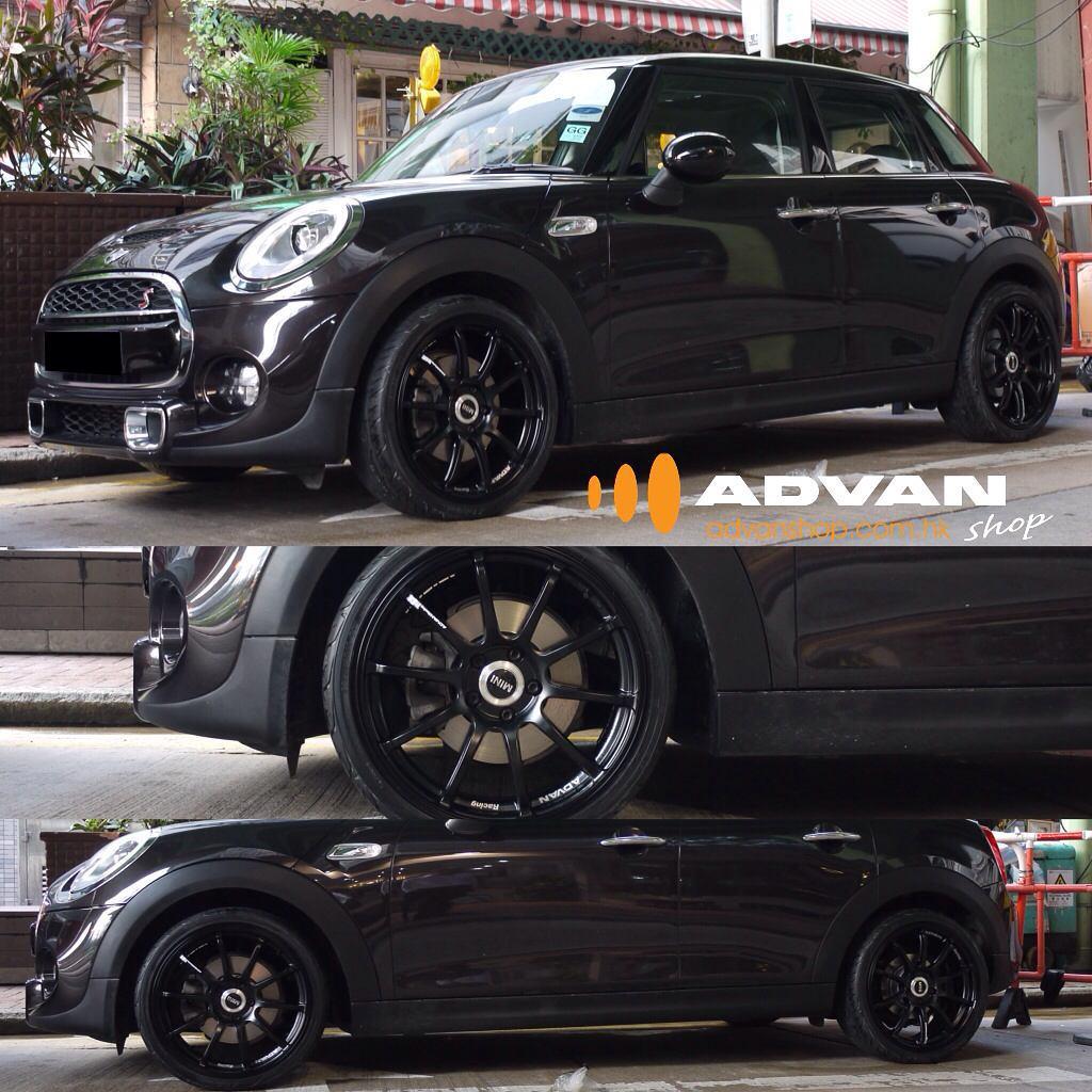 mini cooper f56 with advan racing rs2 wheels mini. Black Bedroom Furniture Sets. Home Design Ideas