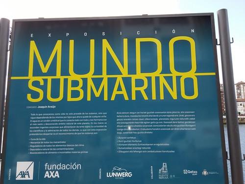 'Mundo submarino', exposición en el Puente Bizkaia