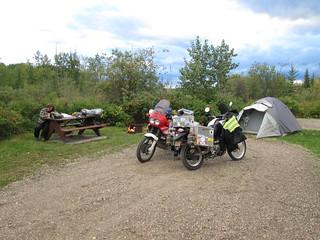 Camping at Swan Lake Provincial Park