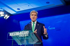 U.S. Secretary of State John Kerry addresses the 2015 Our Ocean conference in Valparaiso, Chile, on October 5, 2015. [State Department photo/ Public Domain]