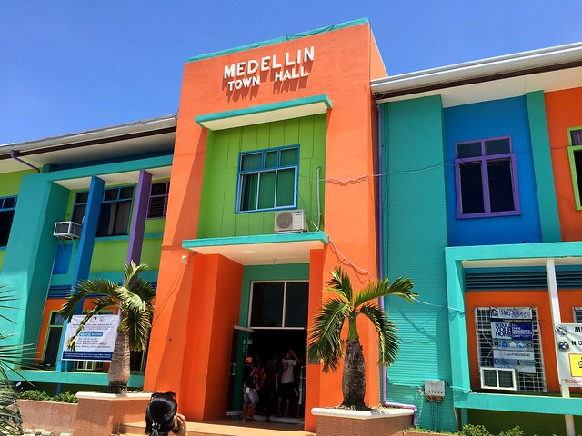 The newly-rehabilitated Medellin Municipal Building (Town Hall) - July, 2015