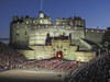 Edinburgh Military Tattoo, a spectacle of infantry batallions, pipe bands, and dance performers.