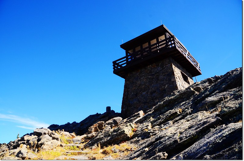 Lookout tower atop Squaw Mountain 1