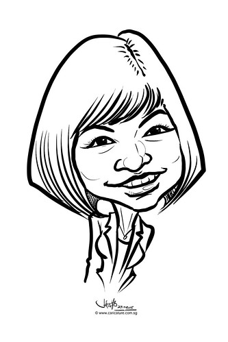 digital caricature live sketching for Standard Chartered Bank 2015 - 4
