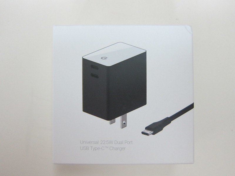 Google Universal 22.5W Dual Port USB Type-C Charger - Box Front
