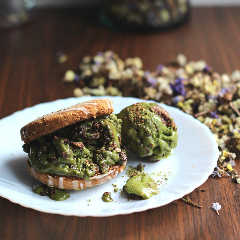 Matcha Monster Nana Ice Cream Sandwich