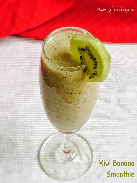 Kiwi Banana Smoothie for Babies