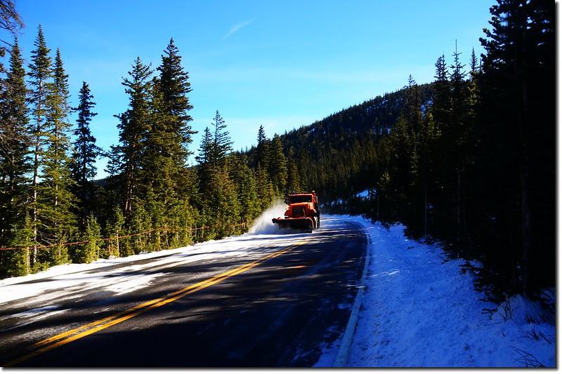 Snow-plow truck