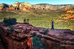 You never know who you'll me on top of a mountain. As I was hiked up to #DevilsBridge in #Sedona yesterday I met an #IncrediblePhotographer named #WilliamDziuk who took this amazing picture.  What a great memory he created for me!  Additionally he did a p