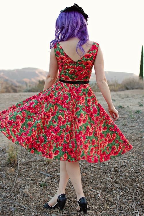 Bernie Dexter Saturday Night Dress in Poppy Print