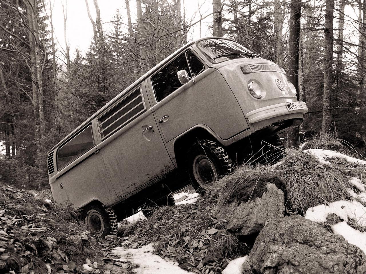 Полноприводный Volkswagen T2 Bus Syncro. 1972 - 1979 годы