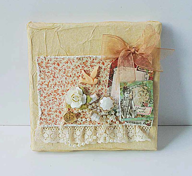 Using-packaging-on-a-mixed-media-canvas