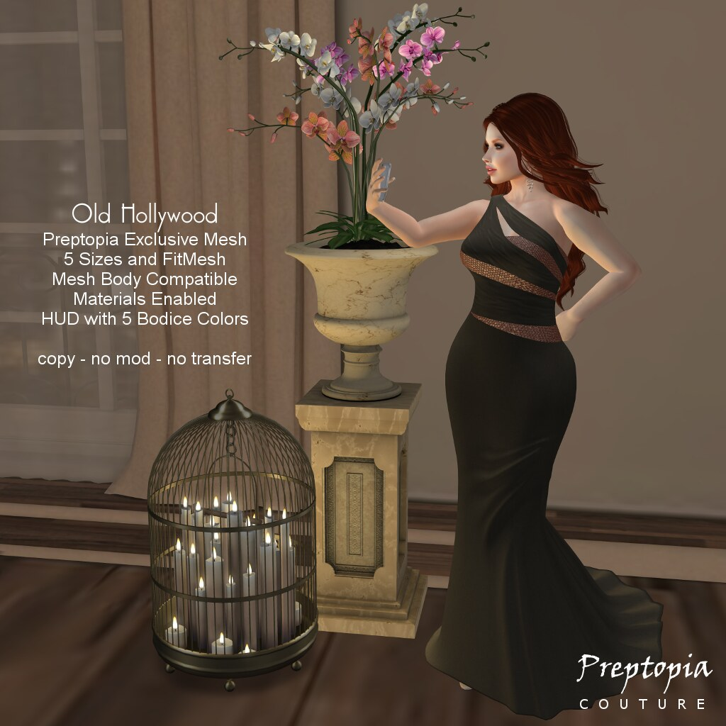 *Preptopia* Old Hollywood Gown - SecondLifeHub.com