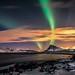 Aurora Borealis at Sandnes Lofoten islands by steinliland