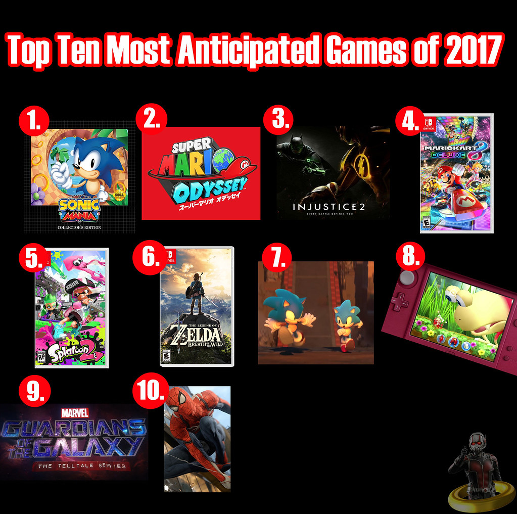 Top Ten Most Anticipated Games of 2017