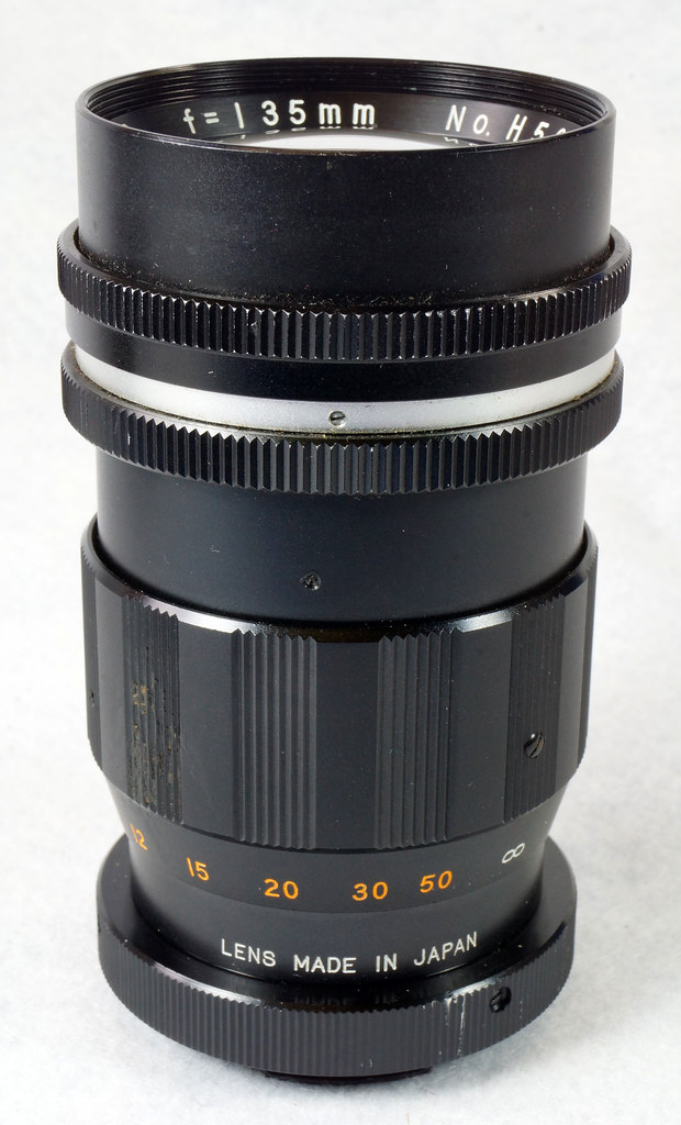 RD15090 Vintage Vemar Telephoto Zoom Camera Lens 1_2.8 f = 135mm No. H50403 Ricoh Mount DSC07448