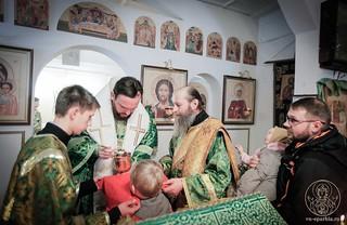 Литургия в в селе Рогавка 350