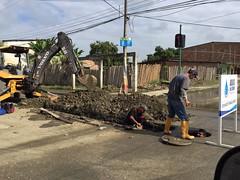 Aguas del Chuno realiza trabajos en calle Pichincha