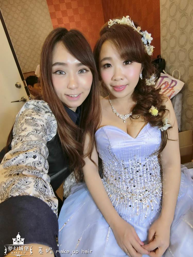 【新秘蓁妮】bride明慧 訂結婚造型 / 台中天恩餐廳
