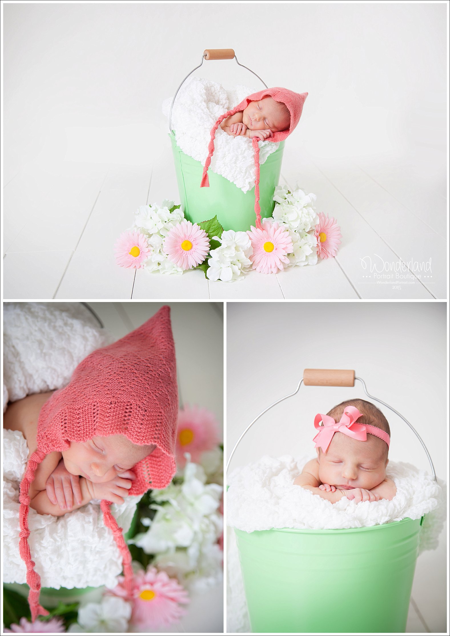 Bucks County PA photography Newborn in Bucket Posing Ideas | WonderlandPortrait.com
