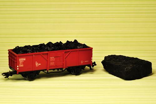 Märklin Modellbau offener Güterwagen Hochbordwagen Kohle aus Bad Rappenau Kohleladung Foto Brigitte Stolle