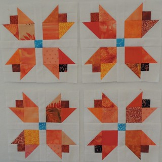 Scrappy Orange Tulip Blocks