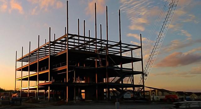 Sunset Building - Topaz Glow Liquify I 55 pct