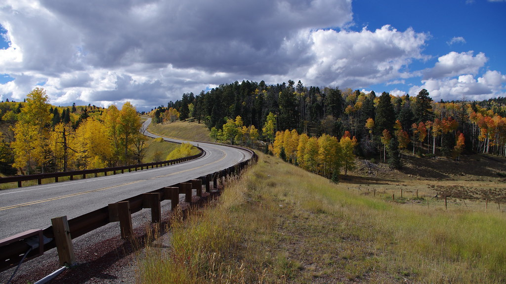 New Mexico - Highway 64 - Tres Piedras to Tierra Amarilla - Autumn / Fall Colours
