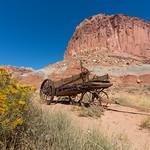 Abandoned wagon, Capitol Reef