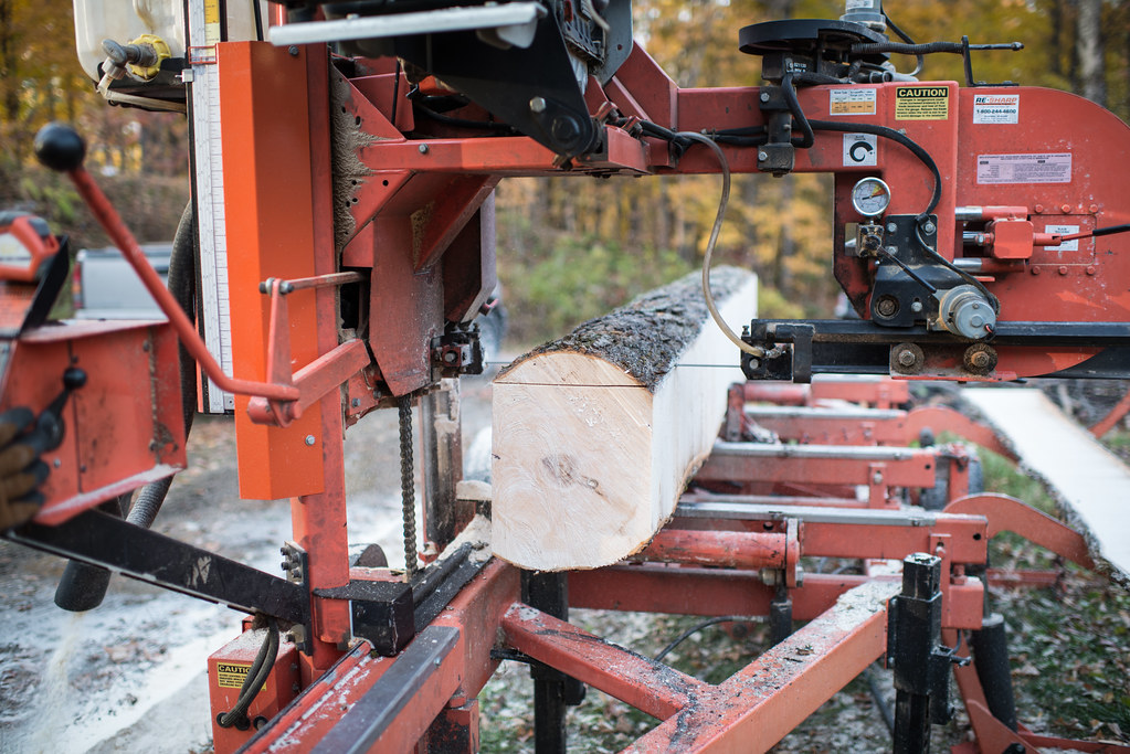 Milling Trees into Lumber with a Wood Mizer