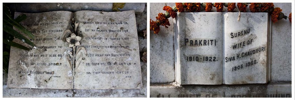 Nabadebalaya - Tomb Stones - Brahmo Cemetery, Kolkata, India