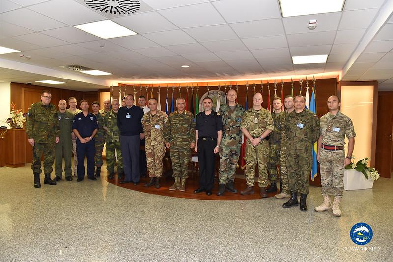 Op. SOPHIA Chairman of EUMC visits EU-OHQ – EUNAVFOR MED