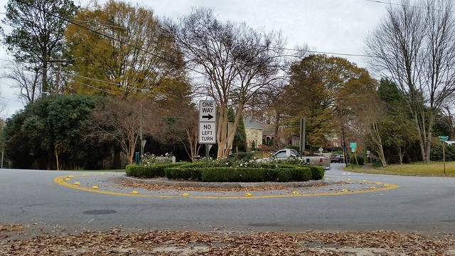 20151130_153522 2015-11-30 Lenox Park traffic circle Rock Spring Pelham Wildwood
