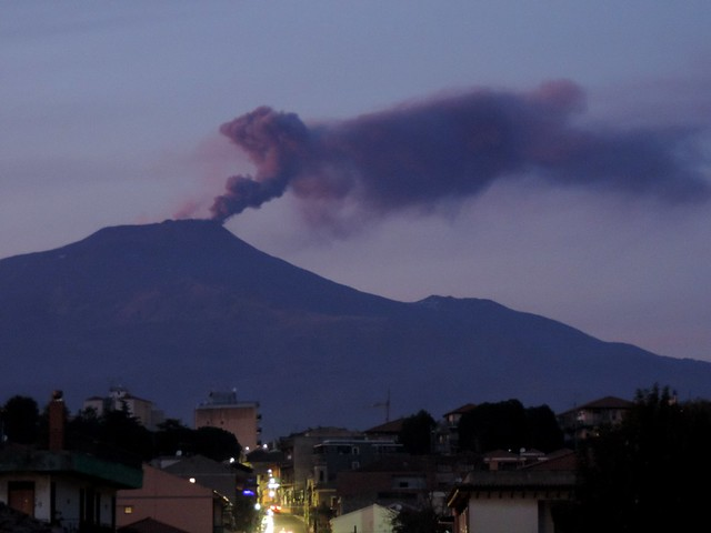 Etna's evening surprise