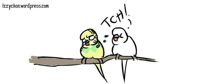 white bird dennis sneeze